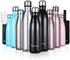 Sportneer® Bottiglia Acqua in Acciaio Inox, Portatile Borraccia Termica 500ml/750ml, Doppi...