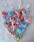 Cuoricini di stoffa con nastrino, realizzati a mano, piccoli, disponibili in diversi color...