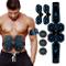 SHENGMI Elettrostimolatore Muscolare, EMS Suscolo Addominale, Addominali Attrezzi ABS, Add...
