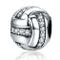 Reiko Pallavolo Ciondolo in Argento Sterling 925,Bead Charm Compatibile con Braccialetti P...