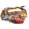 Kibi Adesivo 3D Da Parete Di Arte Auto Del Fumetto PVC Parete Rotto Adesivi Muro Cars Disn...