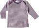 Cosilana - Maglia intima a maniche lunghe, 70% lana, 30% seta, 74/80, colore: prugna