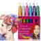 Hair Chalk, ColoreCapelli, ColoreCapelliTemporaneo - Set di 6 gessetti per capelli, lav...