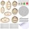 54 Pezzi Set di Mini Cerchi da Ricamo ad Anello Includono Piccolo Cerchio a Punto Croce in...
