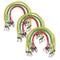vidaXL Corde Elastiche 30 pz 60/80/100 cm Rosso Giallo Verde