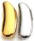 Manicotti protettivi di lusso per accendini Bic mini (2, uno argento e uno oro)