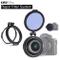 Staffa di montaggio filtro ND interruttore rapido 58 mm Anello adattatore per obiettivo ra...