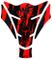 Paraserbatoio 3d 501785One & Only Monster Neon Rosso–Protezione serbatoio universale ad...