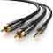 CSL-Computer Primewire - 0,5m Cavo Jack RCA Stereo a Y - 1 x Jack 3,5mm e 2X RCA Maschio -...