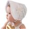 HBF Cappellino Neonata Elegante Accessori per Bambina Berretto Cotone Bianco cappello Bamb...