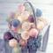 Ghirlanda luminosa a LED con 20 sfere di cotone, alimentazione a batteria, per interni, 30...