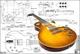 Plan of Gibson Les Paul '59 - Chitarra elettrica, stampa su scala integrale