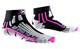 X-Socks Run Speed Two Lady - Calza Running, Donna, Nero (Black/Fuchsia), 41/42
