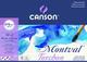 Canson Montval - Carta per acquerelli, 12 fogli, colore: bianco naturale 270 g/m² grana nu...