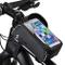 Borsa Bicicletta Telaio - Borsa Manubrio MTB Impermeabile con Striscia Riflettente Sensiti...