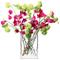LSA International - Vaso rettangolare Bunch, in vetro, trasparente, 22 cm