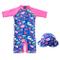 Costume da Bagno per Bambina - Ragazze Costumi Interi Protezione Solare Sunsuit con Cuffia...