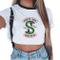 Magliette Tumblr Ragazza Riverdale Crop Top T-Shirt Estate Donna Canotta Maniche Corte Col...