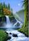 Kit per pittura a mosaico fai da te per adulti, a cascata, DIY 5D Diamond Painting ricamo...