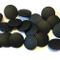 10 bottoni neri opachi da 19 mm con gambo posteriore.