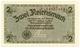 Cartamoneta.com 2 REICHSMARK Occupazione Tedesca in Italia Senza Bollo A Secco 1943 FDS