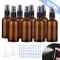 O-Kinee Bottiglie di Vetro Ambrato 8 pcs Flacone Spray di Bottiglie Da Viaggio Contenitore...