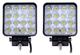 Leetop 2X Faro 48w Quadrato Faretto LED da Lavoro 16 LED di Profondità Auto Barca
