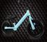 Zixin Due Ruote Walker, No Pedale Walking bilanciamento della Moto, Regolabile Altezza Sed...