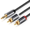 Cavo RCA Jack 2M,VICTECK Nylon intrecciato Cavo Adattatore 3.5mm a 2RCA Maschio Audio Ster...