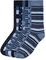 Marchio Amazon - find. 7 Pack Ankle Sock, Calze Uomo, Blu Strisce (Blue Mix), 39-43.5 EU,...
