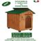 Gstore Cuccia per Cane Cucce in Legno MOD. Alano - Tetto Verde