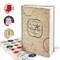 Logbuch-Verlag libro delle ricette ricettario A4 personalizzabile DIY vuoto beige copertin...