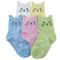 Tandi per bambine, in cotone, novità calze con gattini senza cuciture, confezione da 5 pai...