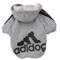 Upper - Cappottino per cani piccola taglia, colore grigio, taglia S