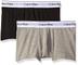 Calvin Klein Underwear - 2P Trunk, Boxer Uomo, Heather Grey/Black BHY, X-Large
