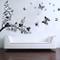 Romantico adesivo calcomania per decorare la parete, albero e farfalle F