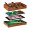 Relaxdays, Tavolo Multigioco, 4 in 1, Biliardino, Ping Pong, Hockey & Biliardo, Bambini &...