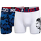 CR7 Boxer da 2 Pezzi Ronaldo Celebration, Bianco/Blu età 13-15 Anni