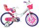 """giordanoshop Bicicletta per Bambina 14"""" 2 Freni Miracle Tunes Bianca e Viola"""