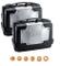 KAPPA - KGR46PACK2 GARDA coppia di valigie MONOKEY nere con cover alluminio laterali 46 li...