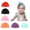 Baby Hat 6 pezzi neonato, 100% cotone morbido, elastico avvolgere la testa avvolgere infan...
