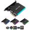 EZDIY-FAB Dual M.2 Adapter per SATA e PCIE NVMe SSD con 12V ARGB Heatsink