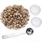 Perline ottagonali di ceralacca, con 2 candele da tè e 1 cucchiaio per fusione, per sigill...
