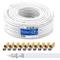deleyCON 30m Cavo Coassiale SAT HQ 130dB con Schermatura Quattro DVB-S/S2 DVB-T DVB-C BK H...