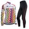 ZEROBIKE Donne Manica Manica Lunga Jersey Abbigliamento Set, Ciclismo Jersey Camicia + 3D...