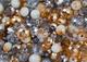 Perline miste di vetro colore oro e argento a forma di rondelle in 3mm, 6mm e 8mm, per...