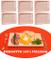 6 pz di Piatto vassoio tagliere scifetta per polenta alimenti in legno di faggio naturale...