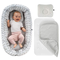 Alvi Baby Nest/Nido Riduttore per Lettino 80x50 cm - Set con Materasso, TENCEL®, Coprimate...