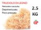 TRUCIOLO LEGNO PER CESTE 2.5 KG Paglia in legno naturale per confezioni natalizie pasquali...