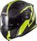 LS2 Casco Convertibile Flip-Up Moto 2019 Ff313 Vortex Frame-Matt Carbon-Hi Vis G (Xxl, Ner...